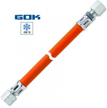 Mitteldruckschlauch G 1/4 LH-ÜM x RVS 10 x 400 mm