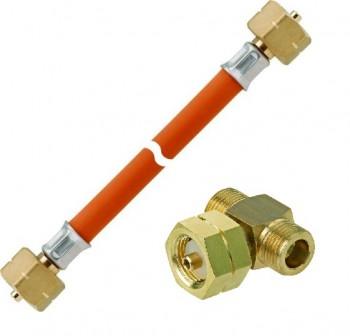 Gasschlauch mit Verbindungsstück PS 30 bar kpl.