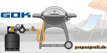BBQ - Niederdruckregler 1,5 kg/h - 50 mbar