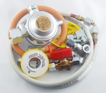 """Propangasanschluss Bausatz-Set \""""aussen WiCu 8/1500 mm\"""" 1,5 kg/h"""
