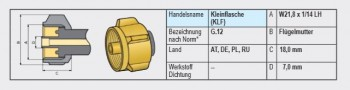 Hochdruckschlauch 750 mm mit Schlauchbruchsicherung SBS