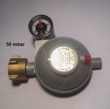 Caravanregler PS 16 bar 1,5 kg/h 50 mbar Manometer