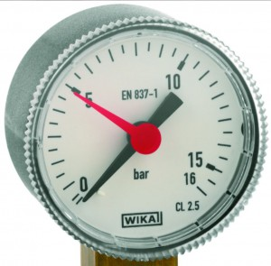 Manometer   0 - 16 bar   /   Ø = 40 mm     -  G 1/8  radial