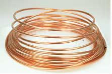 Kupferrohr 8 x 1 mm DIN/DVGW per Meter (gerollt)