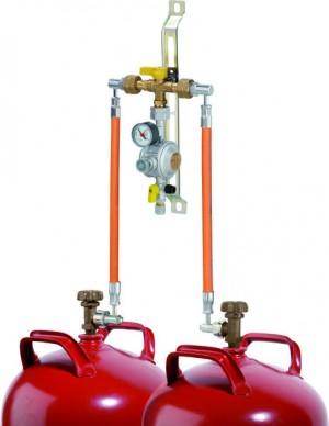 Flaschenanlage 1,5 kg/h- 50 mbar mit man. Umschaltung MUV