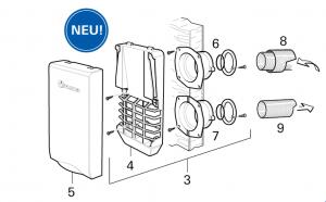 Truma - Wandkaminset Trumatic S 2200 - lang (Variante 2)