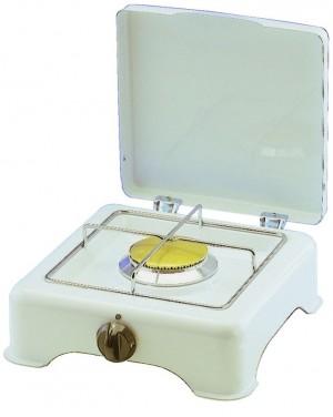 Emaillierter Gaskocher P/B 50 mbar 2,7 KW - 1- fl weiß -