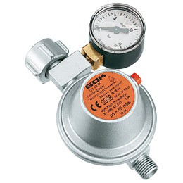 Caravanregler EN61 PS 16 bar 1,5 kg/h 50 mbar Manometer