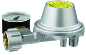 Caravanregler EN61 Leistungsstufe 1 , 0,8 kg/h 30 mbar  90° PS 16 bar