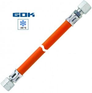 Mitteldruckschlauch G 3/8 LH-ÜM x RVS 12 x 400mm