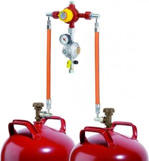 Flaschenanlage 1,5 kg/h- 50 mbar mit aut. Umschalteinrichtung F1
