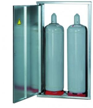 2- Flaschenschrank für 33 kg Flaschen (mit Rückwand)