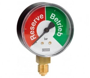 Ersatzmanometer - Betrieb/Reserve