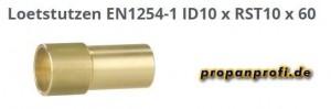 2 Lötstutzen (lang) für Flüssiggasrohrleitungen 10 mm -