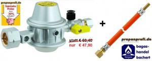 Niederdruckregler Typ EN61-DS PS 16 bar kpl. mit Schlauch