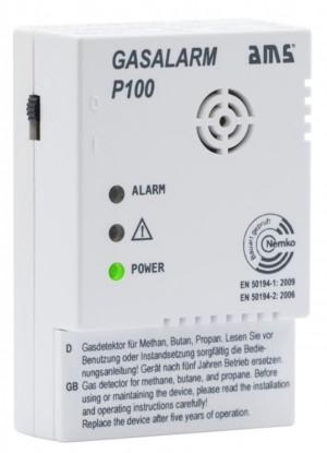 AMS Gaswarngerät Gasalarm P100 mit Schalt-Ausgang