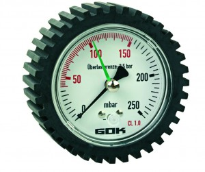 Prüfmanometer Niederdruck   0 - 250 mbar  Ø = 60 mm  /   G 1/2