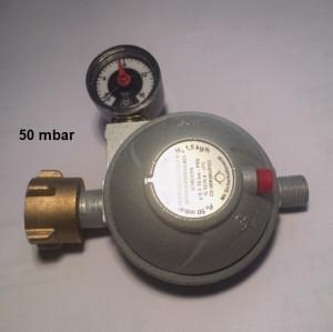 Caravanregler PS 16 bar 1,5 kg/h 50 mbar Manometer