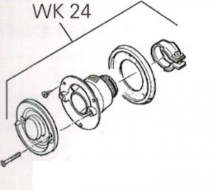 Wandkaminset EW 24 (ohne Kappe) kpl.