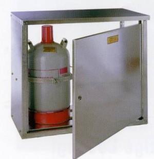 2- Flaschenschrank für 11 kg Flaschen (ohne Rückwand)